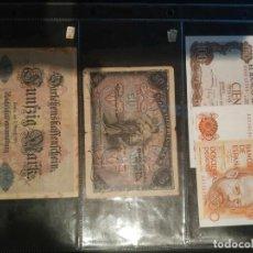 Billetes españoles: LOTE DE 4 BILLETES, 3 ESPAÑOLES Y 1 ALEMÁN. Lote 186280401
