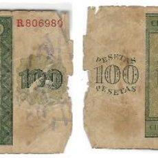 Billetes españoles: ESPAÑA . BANCO DE ESPAÑA BILLETE 100 PESETAS BURGOS 21 NOVIEMBRE 1936. Lote 186414142
