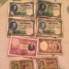 Billetes españoles: LOTE DE BILLETES ESPAÑOLES , PESETAS. Lote 186447947