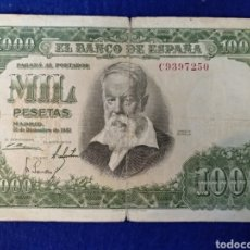 Billetes españoles: BILLETE MIL PESETAS JOAQUÍN SOROLLA 1951. SERIE C. Lote 186680331