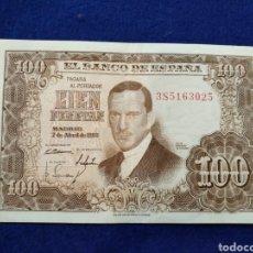 Billetes españoles: BILLETE DE CIEN PESETAS, 1953, JULIO ROMERO DE TORRES. Lote 186780533