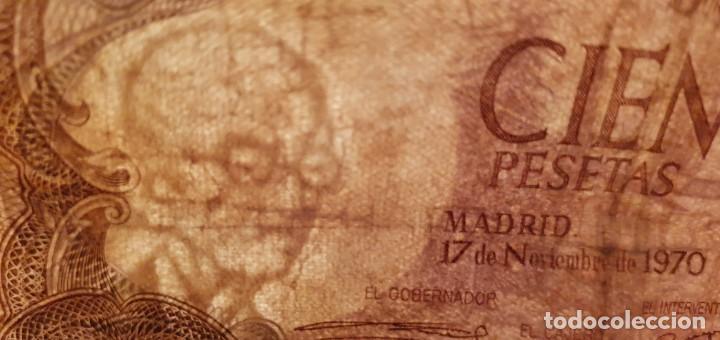 Billetes españoles: BILLETE 100 PESETAS 1970 SERIE 7W ÚLTIMA EMITIDA - Foto 3 - 187456221
