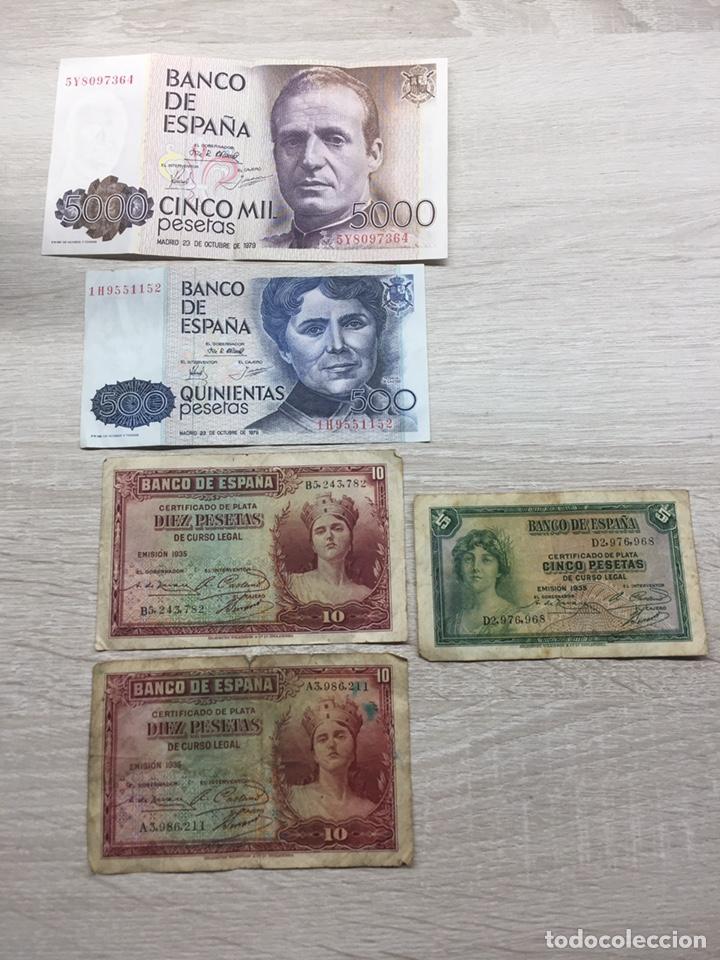 LOTE PESETAS (Numismática - Notafilia - Billetes Españoles)