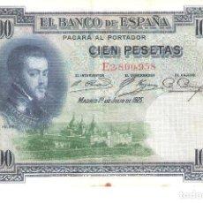 Billetes españoles: BILLETE DE ESPAÑA DE 100 PESETAS DE 1925 CIRCULADO FELIPE II. Lote 188746441