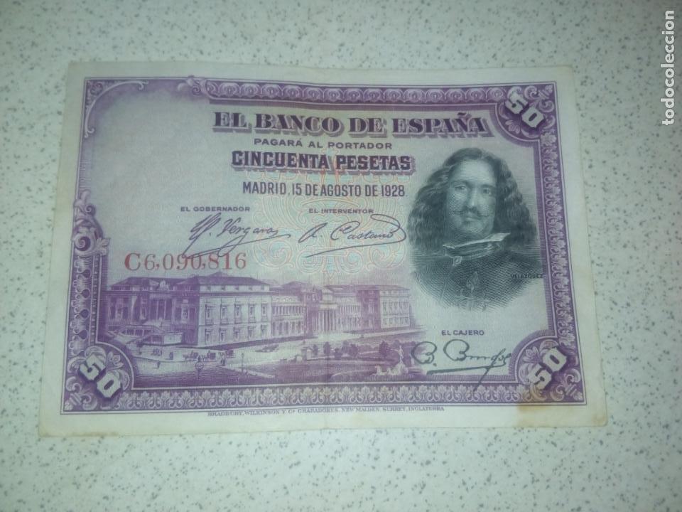 50 PESETAS DE 1928 (Numismática - Notafilia - Billetes Españoles)