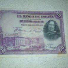 Notas espanholas: 50 PESETAS DE 1928. Lote 188823000