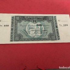 Billetes españoles: 100 PTAS 1937 CON MATRICES BANCO ESPAÑA DE BILBAO. Lote 189350470