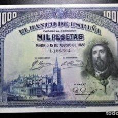 Billetes españoles: BILLETE 1000 PESETAS 1928 EBC+/EBC *PAGO SOLO PAYPAL*. Lote 189432042