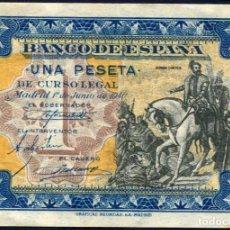 Billetes españoles: 1 PESETA JUNIO 1940 - SIN SERIE - EBC+/S/C-. Lote 189464951