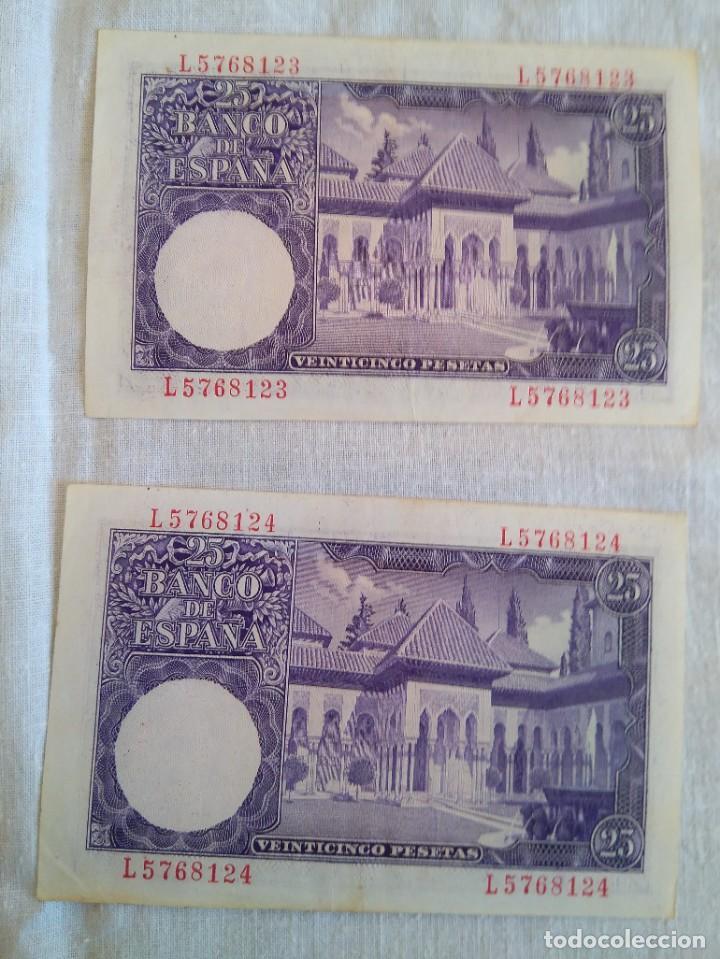 BILLETES VEINTICINCO PESETAS 22 JULIO 1954 SERIE H Y I ISAAC ALBENIZ (Numismática - Notafilia - Billetes Españoles)