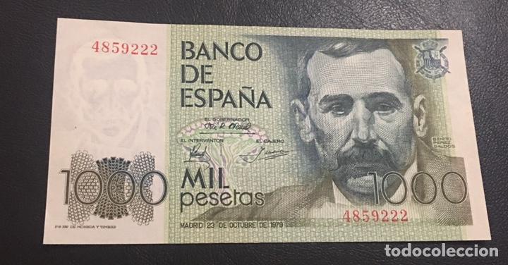 BILLETE DE 1000 PESETAS OJO EN PLANCHA Y SIN SERIE (Numismática - Notafilia - Billetes Españoles)