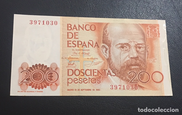 BILLETE DE 200 PESETAS OJO SIN SERIE (Numismática - Notafilia - Billetes Españoles)