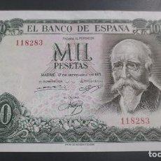 Billetes españoles: BILLETE 1000 PESETAS 1971 ECHEGARAY. SIN SERIE, NUMERACION BAJA 118283. EBC. Lote 190021181