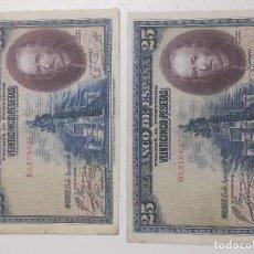 Billetes españoles: BILLETES 25 PESETAS 1928. Lote 190079783