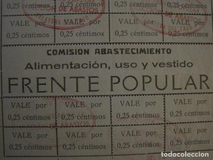 Billetes españoles: GUERRA CIVIL-COMISION ABASTECIMIENTO FRENTE POPULAR-VALES 0,25 CENTIMOS-VER FOTOS-(V-18.711) - Foto 4 - 190156808