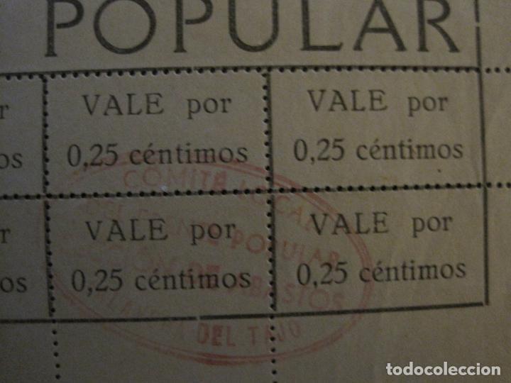 Billetes españoles: GUERRA CIVIL-COMISION ABASTECIMIENTO FRENTE POPULAR-VALES 0,25 CENTIMOS-VER FOTOS-(V-18.711) - Foto 6 - 190156808