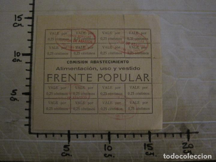 Billetes españoles: GUERRA CIVIL-COMISION ABASTECIMIENTO FRENTE POPULAR-VALES 0,25 CENTIMOS-VER FOTOS-(V-18.711) - Foto 8 - 190156808