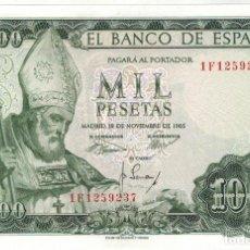 Billetes españoles: BILLETE DE 1000 PTAS. EMISION 19-11-1965 IMAGEN SAN ISIDORO. Lote 190329000