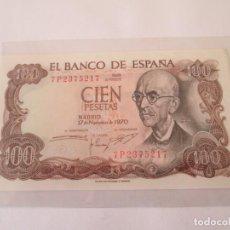 Billetes españoles: BILLETE * 100 PESETAS 17 DE NOVIEMBRE DE 1970 * SC. Lote 190630821