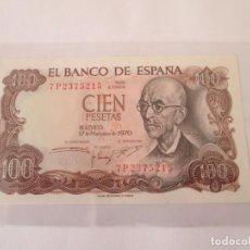 Billetes españoles: BILLETE * 100 PESETAS 17 DE NOVIEMBRE DE 1970 * SC. Lote 190630880