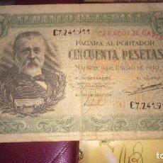 Billetes españoles: BILLETE 50 CINCUENTA PESETAS 1940. Lote 190693990