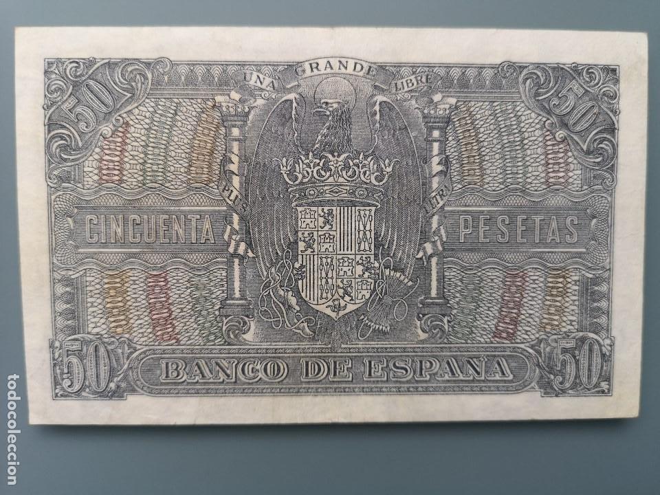 Billetes españoles: BILLETE 50 PESETAS BANCO ESPAÑA MADRID 1940 SERIE C MUY BUENA CONSERVACION MBC MENENDEZ PELAYO - Foto 2 - 190704731