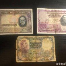 Billetes españoles: LOTE BILLETES 50 PESETAS. Lote 190790770