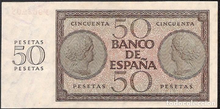 Billetes españoles: 50 PESETAS 1936 SERIE F S/C - Foto 2 - 190901731