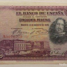 Billetes españoles: BILLETE 50 PESETAS, 1928, SERIE A 0,071,775. Lote 191042098