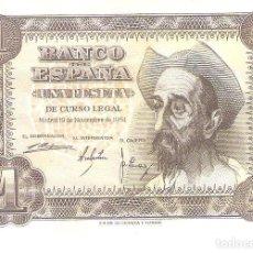 Billetes españoles: BILLETE DE ESPAÑA DE 1 PESETA DE 1951 CIRCULADA EL QUIJOTE. Lote 191056717