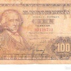 Billetes españoles: BILLETE DE ESPAÑA DE 100 PESETAS DE 1948 MUY CIRCULADO. Lote 191058068