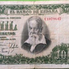 Billetes españoles: BILLETE 1000 PESETAS 1951, JOAQUIN SOROLLA, MBC, SERIE C. Lote 191065698