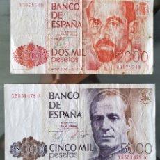 Billetes españoles: LOTE COLECCIÓN BILLETES DE ESPAÑA EN PESETAS. Lote 191068138