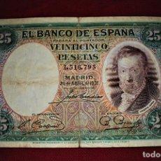 Billetes españoles: ESPAÑA 25 PESETAS 1931 VICENTE LÓPEZ RB 39. Lote 191118747