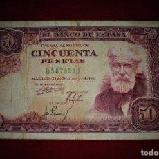 Billetes españoles: ESPAÑA 50 PESETAS 1951 SANTIAGO RUSIÑOL- RB 32. Lote 191118993