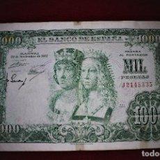 Billetes españoles: ESPAÑA 1000 PESETAS 1957 REYES CATÓLICOS RB 29. Lote 191119200