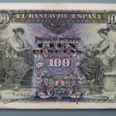 Billetes españoles: BILLETE 100 PESETAS BANCO ESPAÑA MADRID JUNIO 1906 SERIE C BUENA CONSERVACION BC+. Lote 191444592