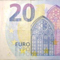 Billetes españoles: 20 EUROS TERCERA FIRMA DRAGHI DE LA V ESPAÑOLA, PLANCHA V001A1, AÑO 2015. Lote 191547236