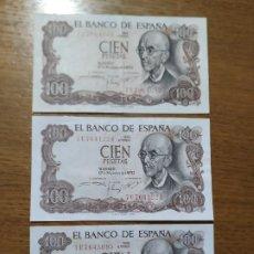 Billetes españoles: BILLETES 100 PTAS. AÑO 1970. Lote 191918650