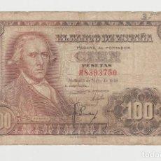 Billetes españoles: 100 PESETAS-2 DE MAYO DE 1948. Lote 191980623