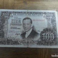 Billetes españoles: BILLETE CIEN PESETAS JULIO ROMERO TORRES 7 ABRIL 1953 SERIE 3S3329395. Lote 191983306
