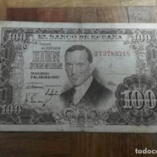 Billetes españoles: BILLETE CIEN PESETAS JULIO ROMERO TORRES 7 ABRIL 1953 SERIE 3T3783718. Lote 191984330