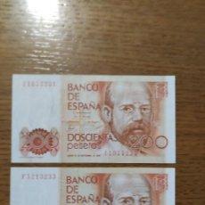 Billetes españoles: BILLETES 200 PTAS. AÑO 1980. Lote 191991246