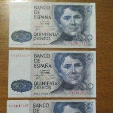 Billetes españoles: BILLETES 500 PTAS. AÑO 1979. Lote 191996322