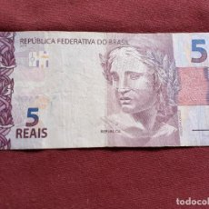 Billetes españoles: BRASIL, 5 REAIS 2010. Lote 192350945