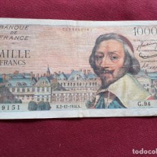 Billetes españoles: FRANCIA BILLETE DE 1000 FRANCOS DE 1954. Lote 192351210