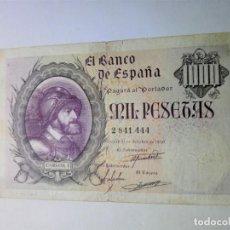 Billetes españoles: ESCASO BILLETE 1000 PESETAS 1940 SIN SERIE MBC SPAIN BANKNOTE*PAGO SOLO PAYPAL*. Lote 192357227