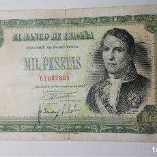 Billetes españoles: ESCASO BILLETE 1000 PESETAS 1940 SIN SERIE MBC- SPAIN BANKNOTE*PAGO SOLO PAYPAL*. Lote 192358380