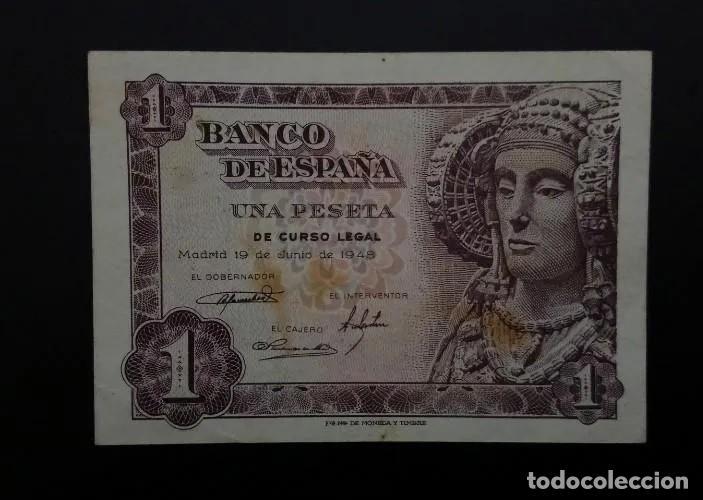 BILLETE DE 1 PESETA DE 1948. ESPECTACULAR ESTADO. SIN CIRCULAR. (Numismática - Notafilia - Billetes Españoles)