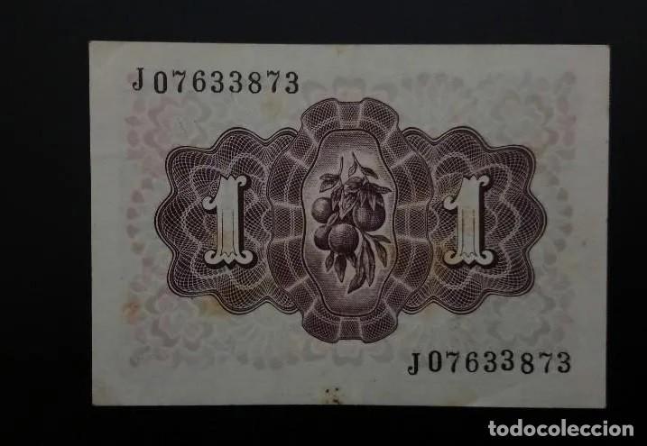 Billetes españoles: BILLETE DE 1 PESETA DE 1948. ESPECTACULAR ESTADO. SIN CIRCULAR. - Foto 2 - 193048935